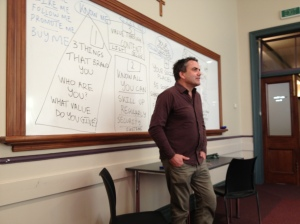 Presenting at his Auckland Seminar