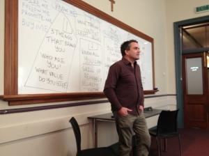Presenting at his Auckland Seminar